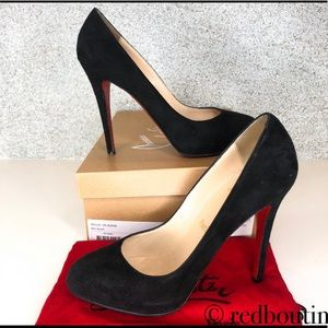 👠FIRM👠 Christian Louboutin Delic 120 suede pumps